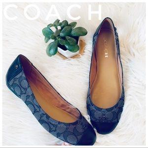 COACH leather flats